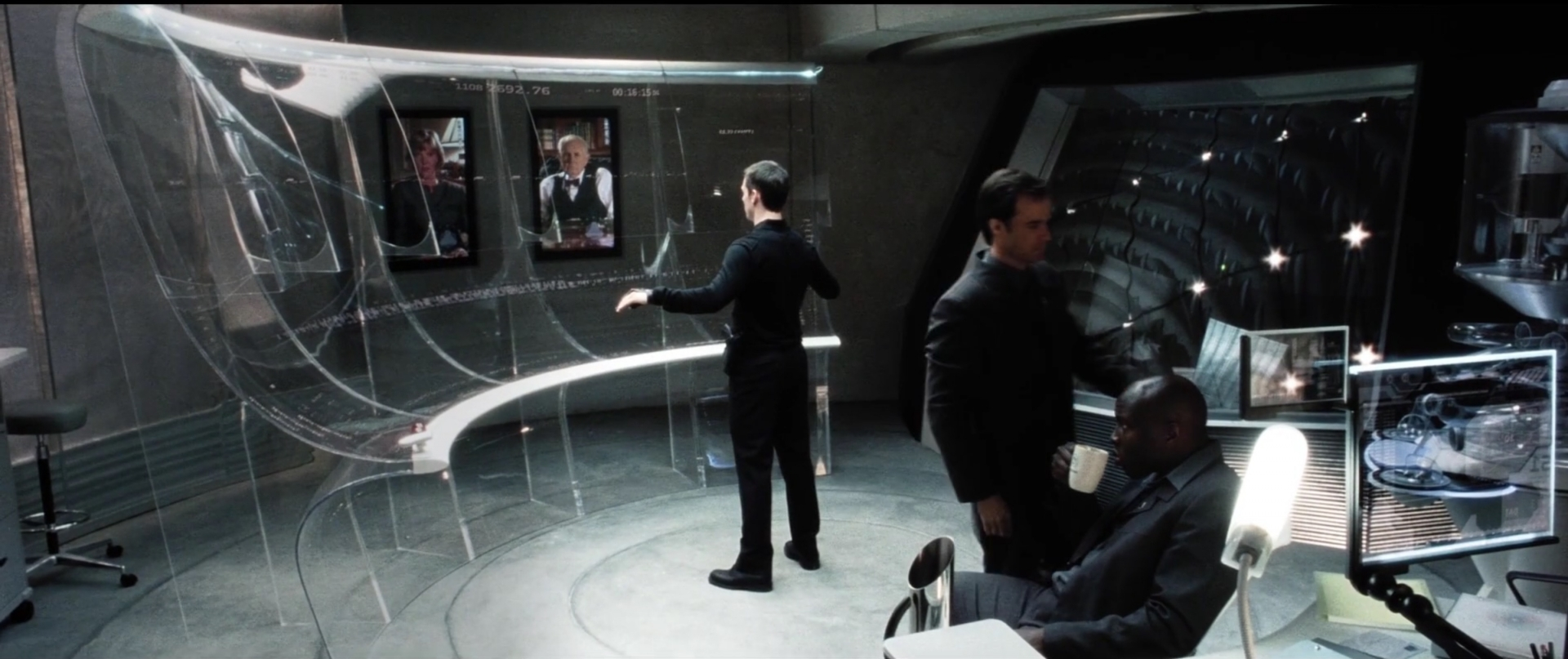 """Tom Cruise using the interface from the movie """"Minority Report"""""""