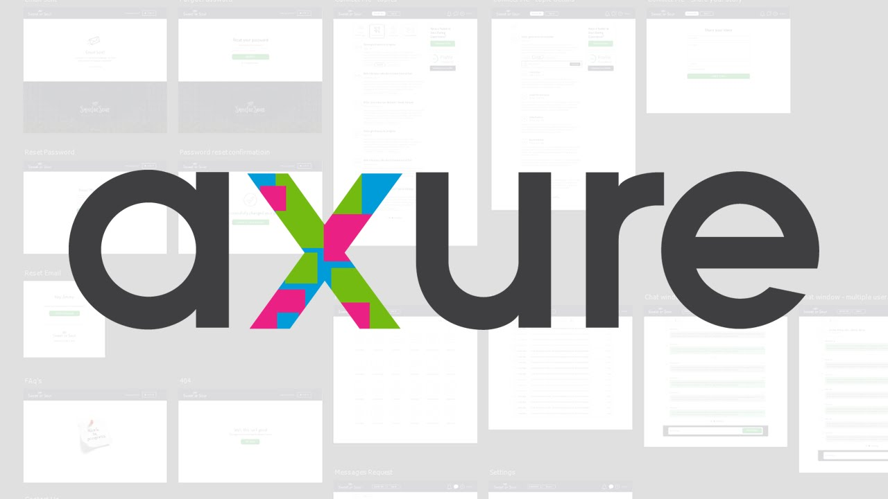 axure logo with screens behind